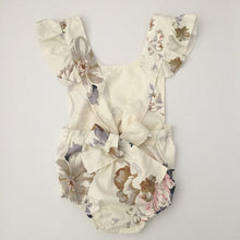 Load image into Gallery viewer, TEA PARTY FLORAL ROMPER