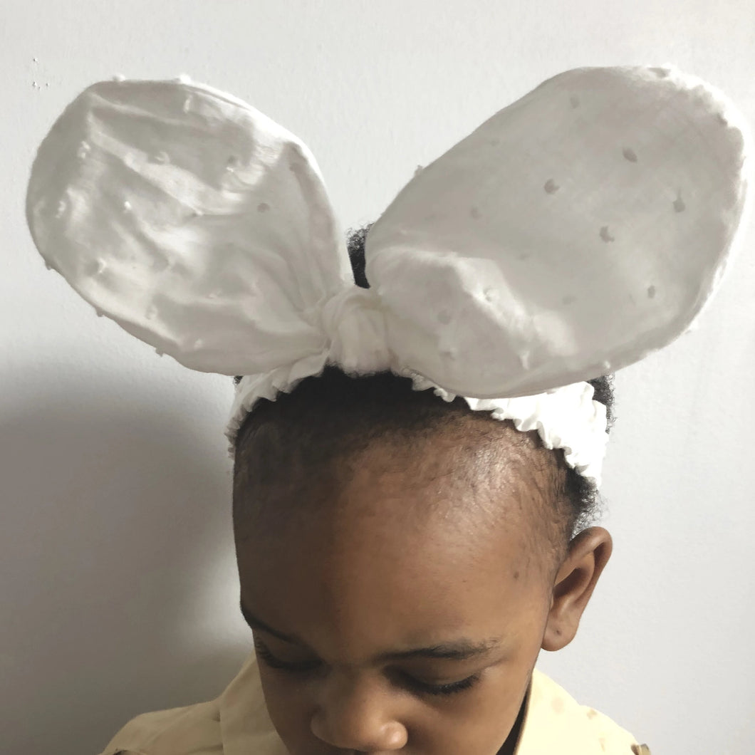 WHITE PARTY BUNNY HEADBAND