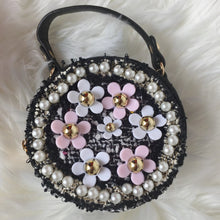 Load image into Gallery viewer, TWEED CIRCLE FLOWER GIRL BAG