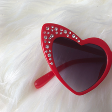 Load image into Gallery viewer, Heart Presley Rhinestone Sunglasses