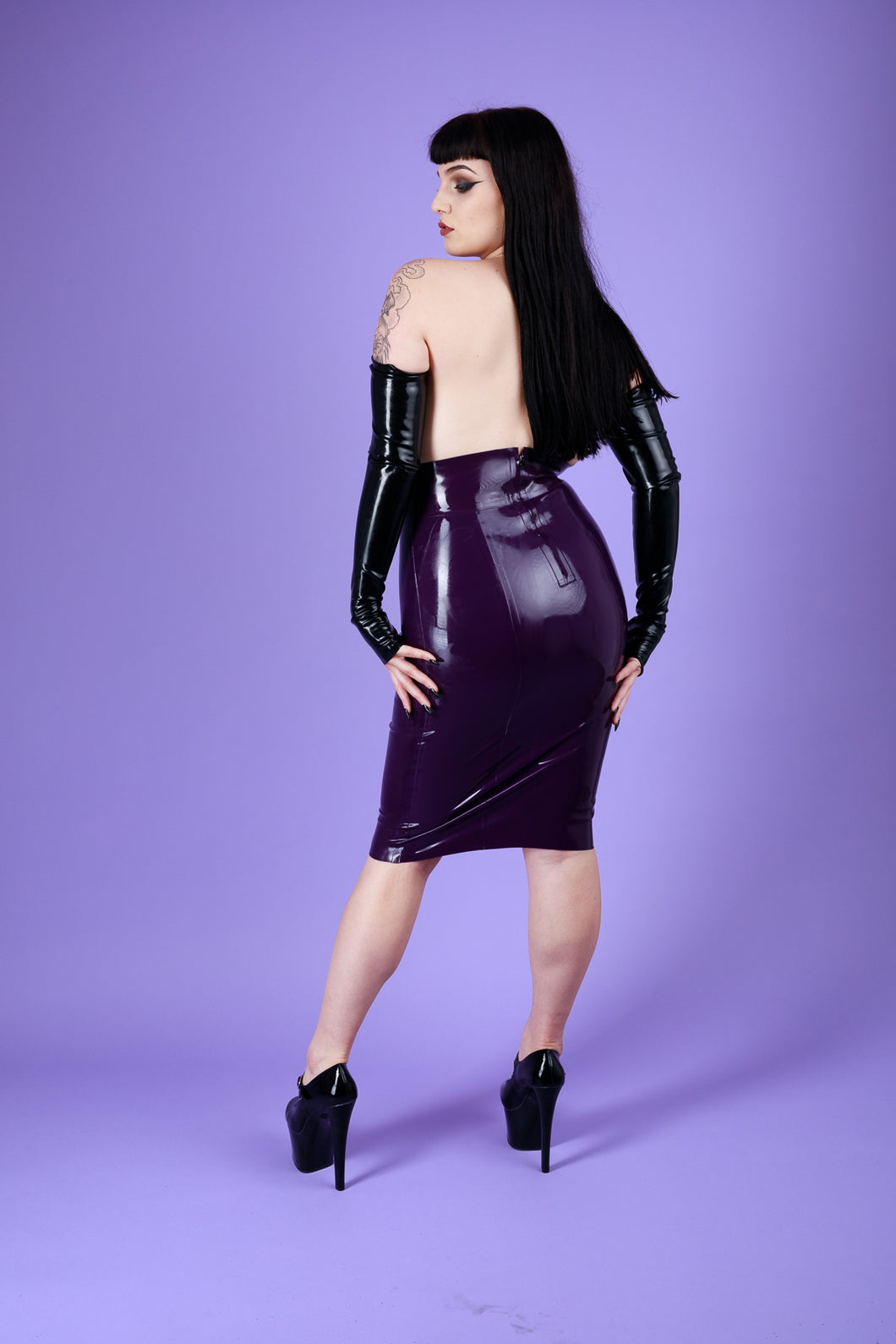 Latex High Waist Skirt
