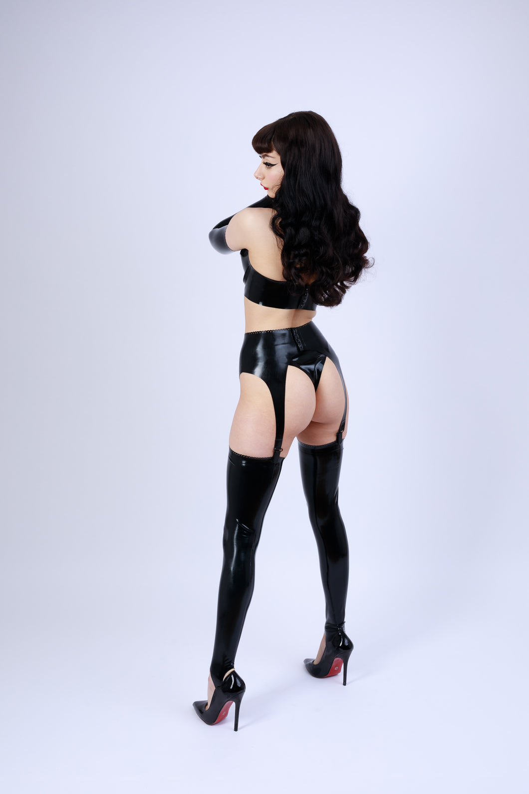 Latex Suspender Belt