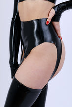Load image into Gallery viewer, Latex Detail Suspender Belt