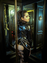 Load image into Gallery viewer, Bum Strap Latex Skirt