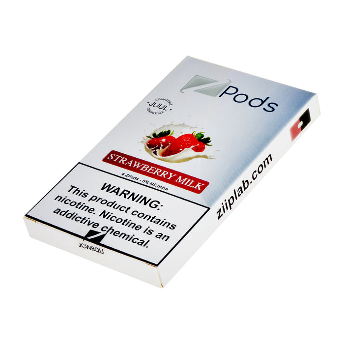 Ziip Pods Strawberry Milk 4ct