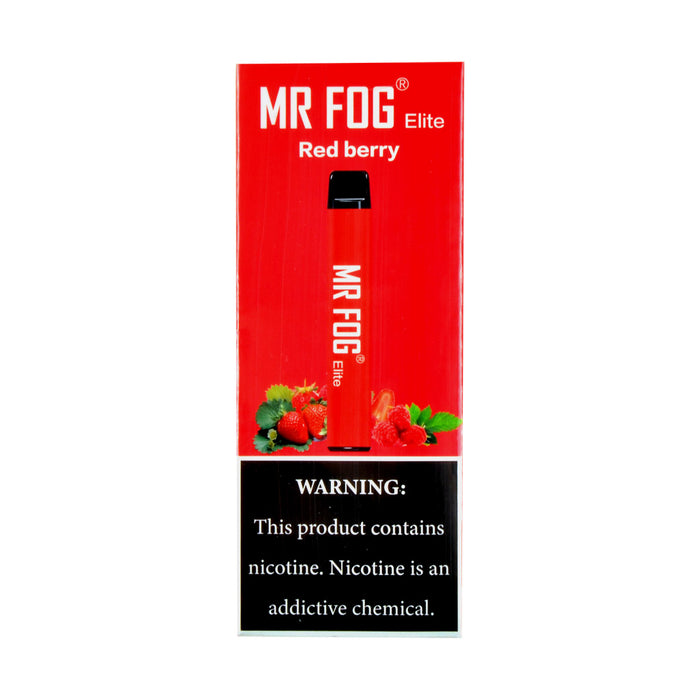 Mr Fog Elite Disposable Pen Red Berry