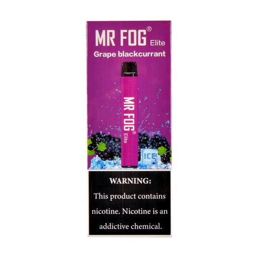 Mr Fog Elite Disposable Pen Grape Blackcurrant