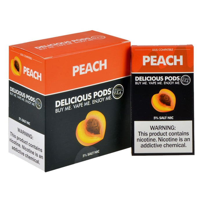 Delicious Pods - Delicious Pods Peach Pack of 4 - Drops of Vapor