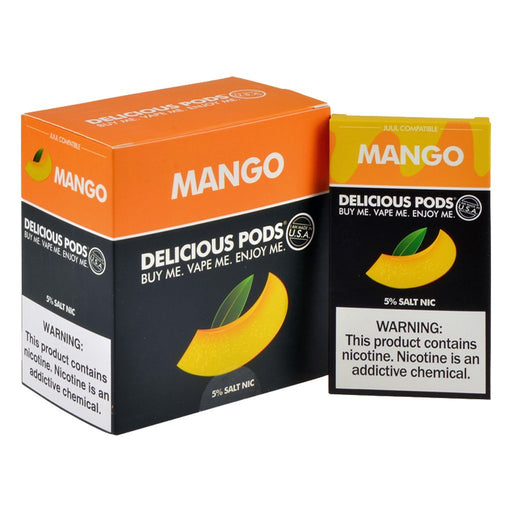 Delicious Pods - Delicious Pods Mango Pack of 4 - Drops of Vapor