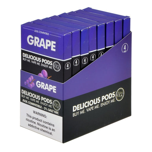 Delicious Pods - Delicious Pods Grape Pack of 4 - Drops of Vapor