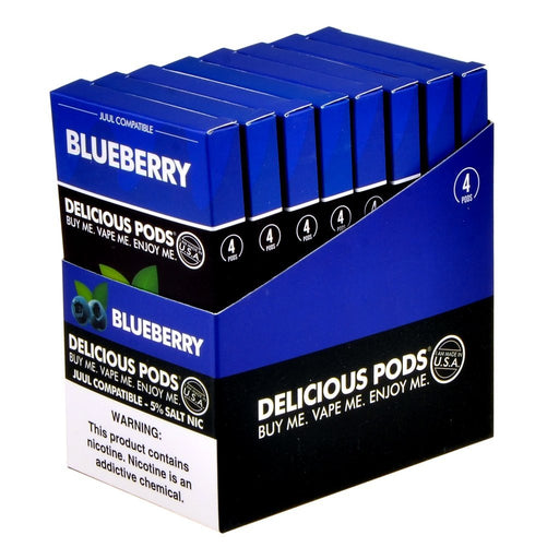 Delicious Pods - Delicious Pods Blueberry Pack of 4 - Drops of Vapor