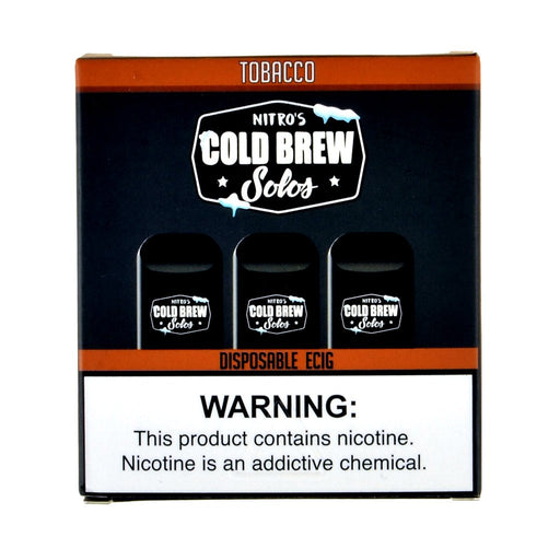 Nitro's Cold Brew Solos Tobacco Disposable E-Cig
