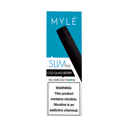 Myle Slim Disposable Device Iced Quad Berry