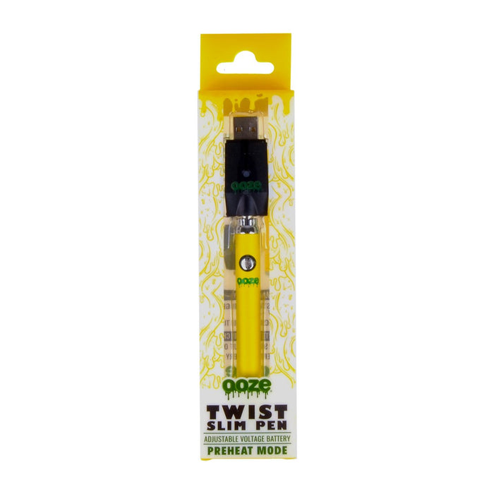 Ooze Yellow Slim Pen Twist Battery