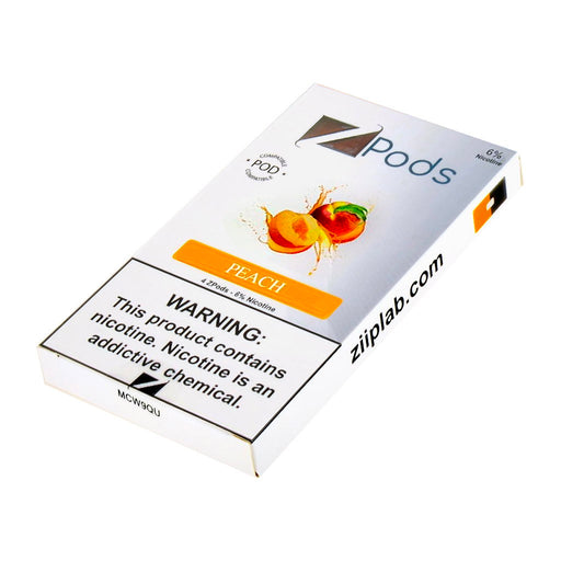 Ziip Pods Peach New Flavors