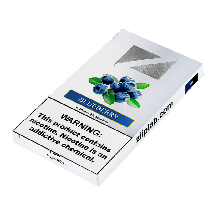 Ziip Pods Blueberry 4ct