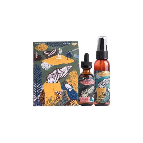 Bundling Hair Oil With Peppermint & Hair Mist - Tumbuh Lab x Draw Mama