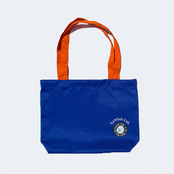 Tumbuh Lab x We Are Out of Office Tote Bag Blue