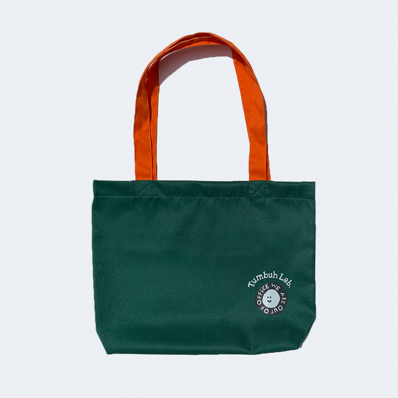 Tumbuh Lab x We Are Out of Office Tote Bag Green