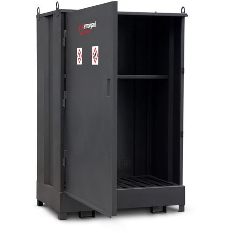 DrumBank 2 Drum Enclosed Storage Unit with Shelf