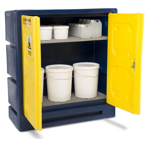 Durable plastic chemical cabinet