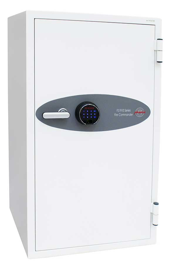 Phoenix Fire Commander FS1911F Size 1 Fire Safe with Fingerprint Lock - Buy Safes Online Co. UK