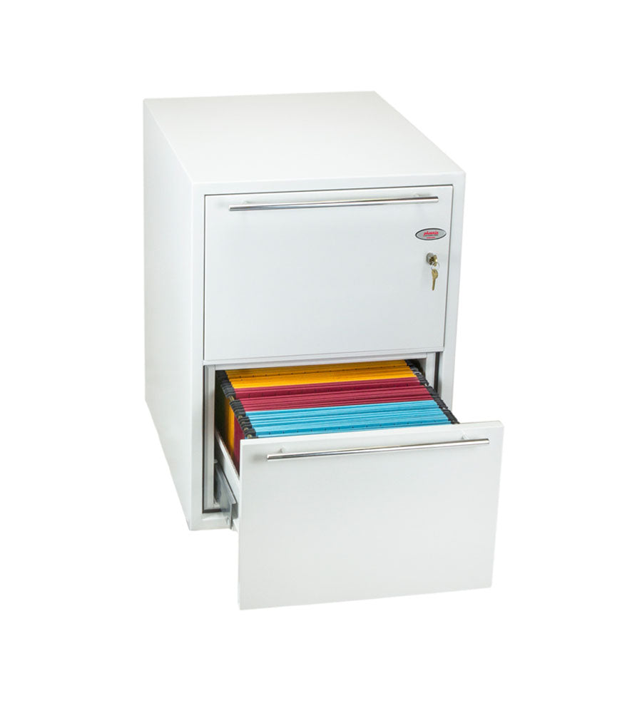 Phoenix Archivo Fire File FS2232K 2 Drawer Filing Cabinet with Key Lock - Buy Safes Online Co. UK