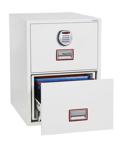 Phoenix World Class Vertical Fire File FS2252E 2 Drawer Filing Cabinet with Electronic Lock - Buy Safes Online Co. UK