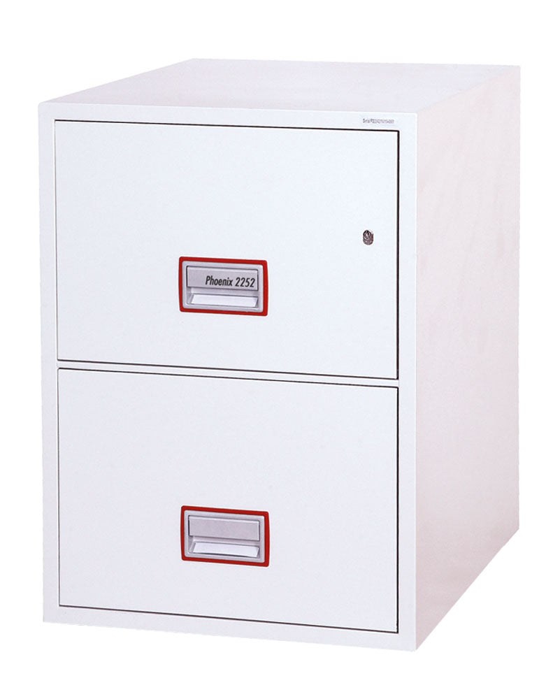 Phoenix World Class Vertical Fire File FS2252K 2 Drawer Filing Cabinet with Key Lock - Buy Safes Online Co. UK