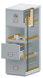 Phoenix World Class Vertical Fire File FS2254E 4 Drawer Filing Cabinet with Electronic Lock - Buy Safes Online Co. UK