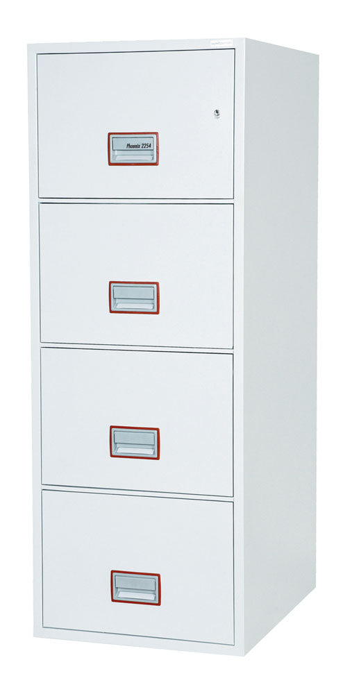 Phoenix World Class Vertical Fire File FS2254K 4 Drawer Filing Cabinet with Key Lock