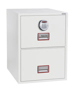 Phoenix World Class Vertical Fire File FS2262E 2 Drawer Filing Cabinet with Electronic Lock - Buy Safes Online Co. UK