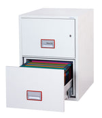 Phoenix World Class Vertical Fire File FS2262K 2 Drawer Filing Cabinet with Key Lock - Buy Safes Online Co. UK