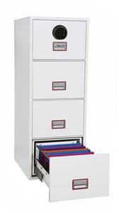 Phoenix World Class Vertical Fire File FS2264F 4 Drawer Filing Cabinet with Fingerprint Lock - Buy Safes Online Co. UK