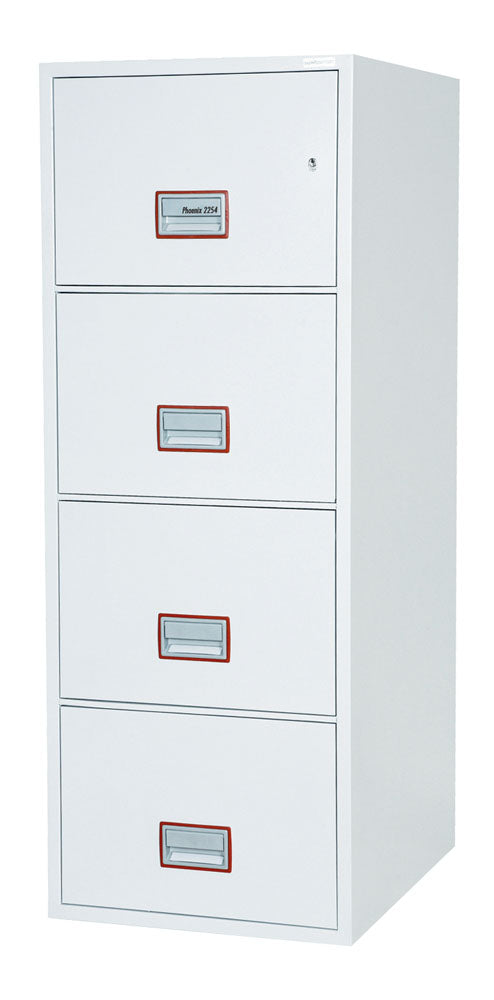 Phoenix World Class Vertical Fire File FS2264K 4 Drawer Filing Cabinet with Key Lock