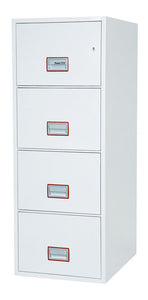 Phoenix World Class Vertical Fire File FS2264K 4 Drawer Filing Cabinet with Key Lock - Buy Safes Online Co. UK