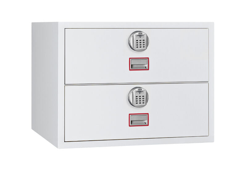 Phoenix World Class Lateral Fire File FS2412E 2 Drawer Filing Cabinet with Electronic Lock - Buy Safes Online Co. UK