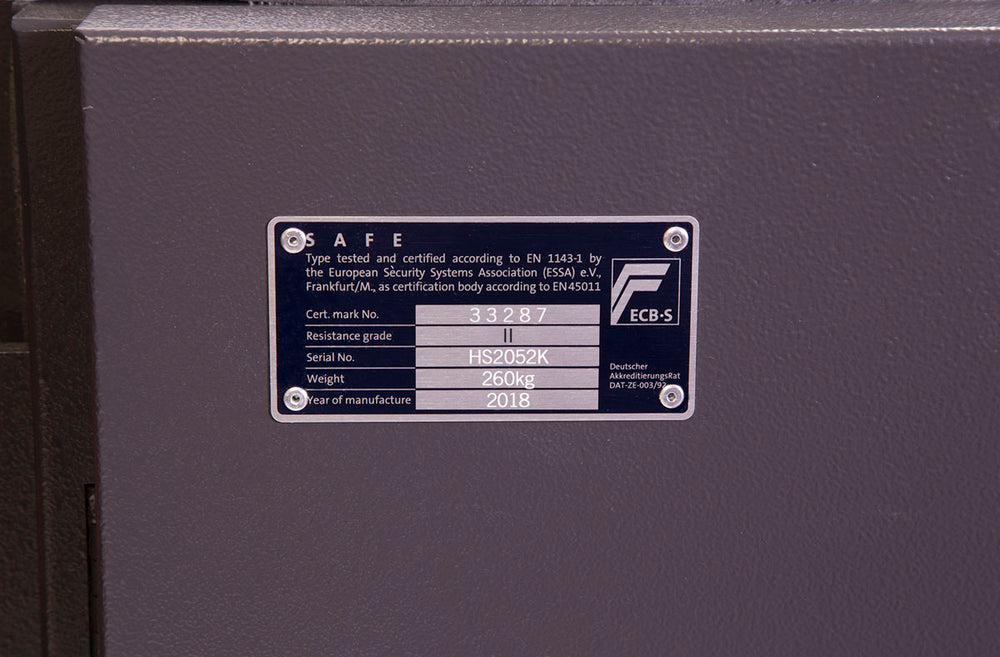 Phoenix Mercury HS2052K Size 2 High Security Euro Grade 2 Safe with Key Lock - Buy Safes Online Co. UK