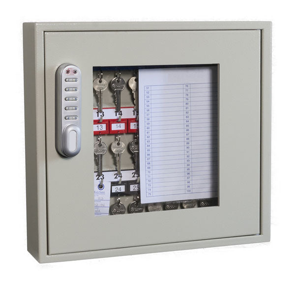 Phoenix Clear View Key Cabinet KC0402E 40 Hook with Electronic Code Lock - Buy Safes Online Co. UK