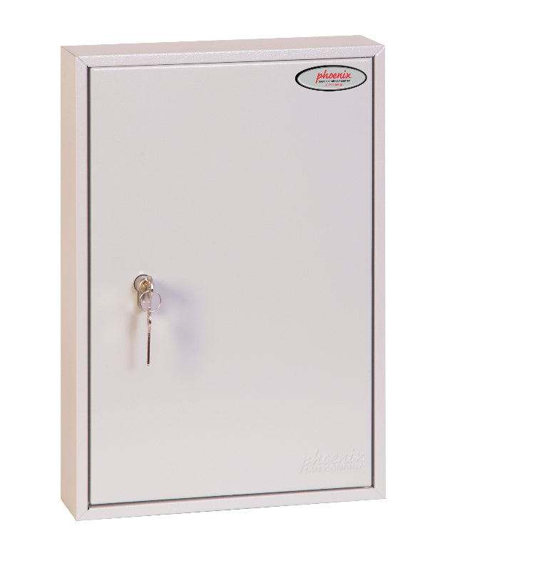 Phoenix Commercial Key Cabinet KC0601P 42 Hook with Key Lock. - Buy Safes Online Co. UK