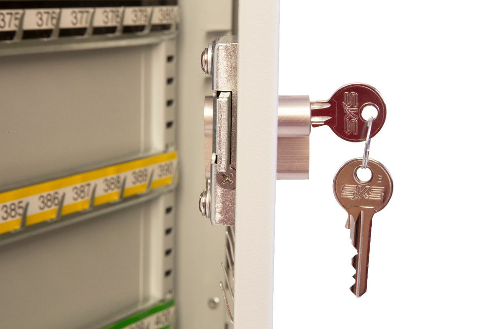 Phoenix Commercial Key Cabinet KC0602P 64 Hook with Key Lock. - Buy Safes Online Co. UK