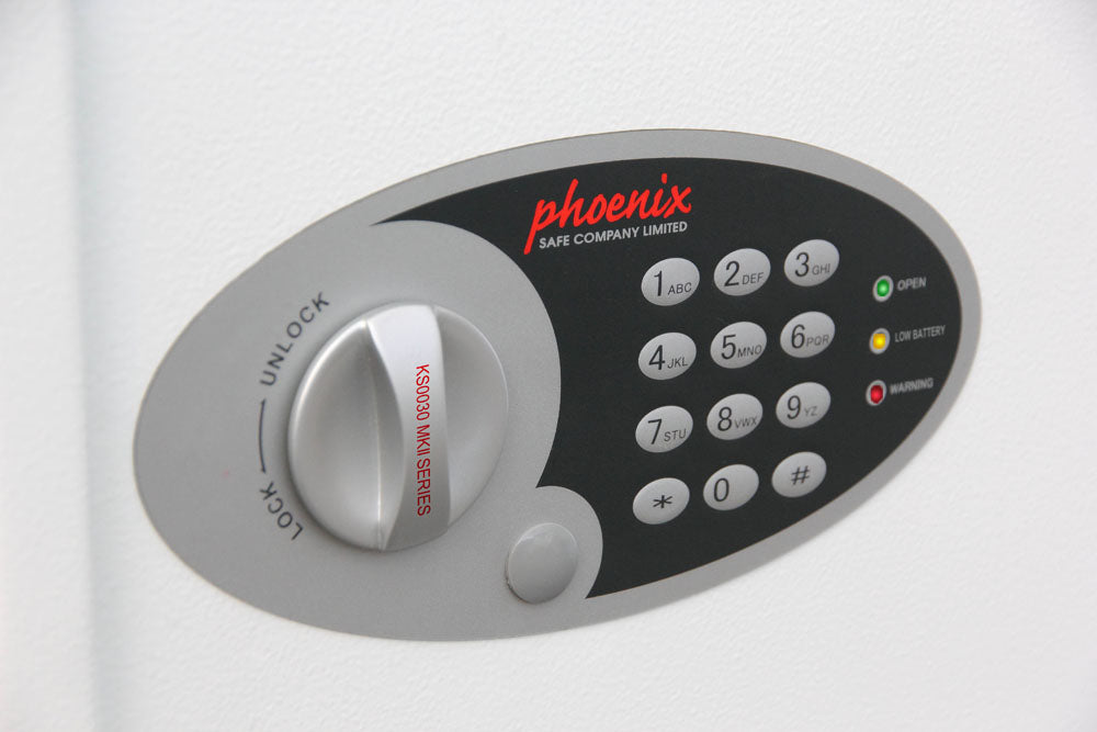 Phoenix Cygnus Key Deposit Safe KS0031E 30 Hook with Electronic Lock - Buy Safes Online Co. UK