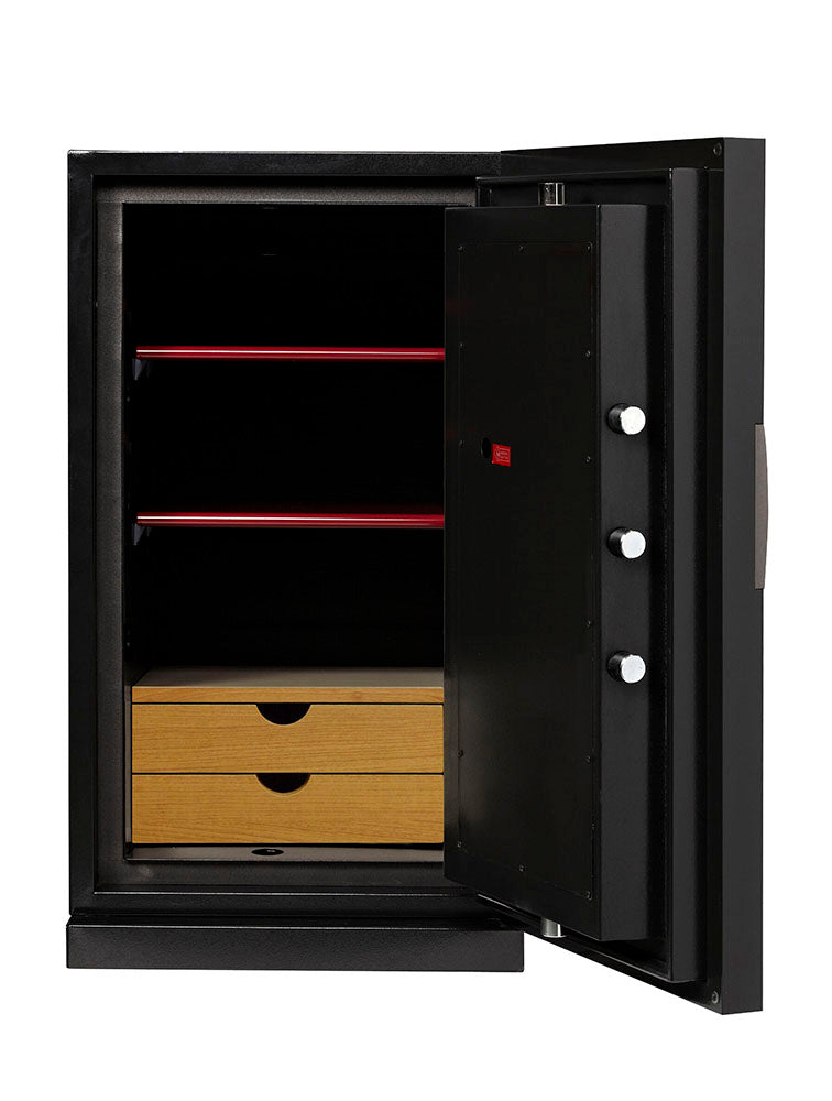 Phoenix Next LS7003FB Luxury Safe Size 3 (Black) with Fingerprint Lock - Buy Safes Online Co. UK