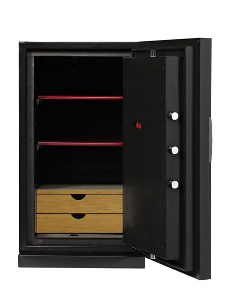 Phoenix Next LS7003FO Luxury Safe Size 3 (Oak) with Fingerprint Lock - Buy Safes Online Co. UK