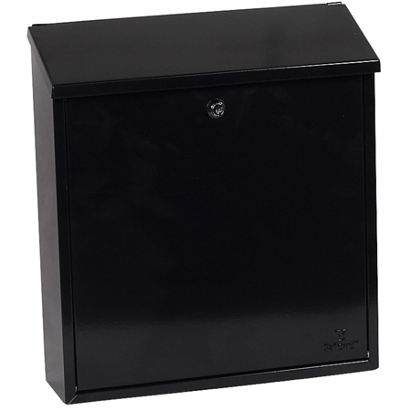 Phoenix Casa Top Loading Mail Box MB0111KB in Black with Key Lock - Buy Safes Online Co. UK