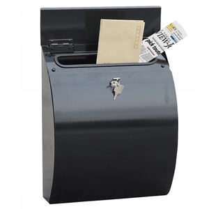 Phoenix Curvo Top Loading Mail Box MB0112KB in Black with Key Lock - Buy Safes Online Co. UK