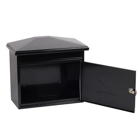 Phoenix Libro Front Loading Mail Box MB0115KB in Black with Key Lock - Buy Safes Online Co. UK