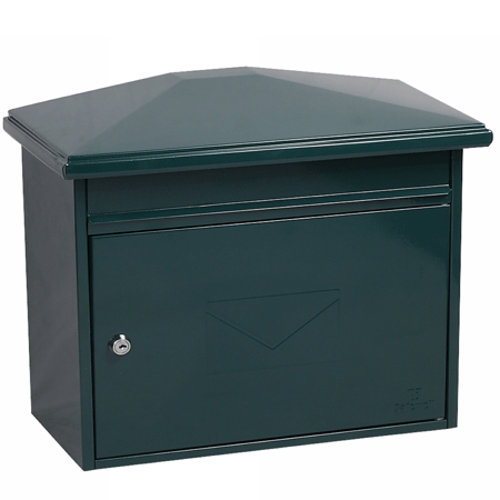 Phoenix Libro Front Loading Mail box MB0115KG in Green with Key Lock