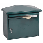 Phoenix Libro Front Loading Mail box MB0115KG in Green with Key Lock - Buy Safes Online Co. UK