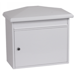 Phoenix Libro Front Loading Mail Box MB0115KW in White with Key Lock - Buy Safes Online Co. UK